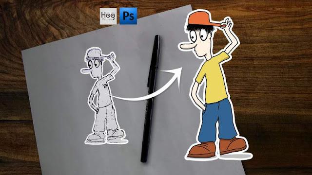 Cara Membuat Karakter Kartun Sendiri - Hog Pictures