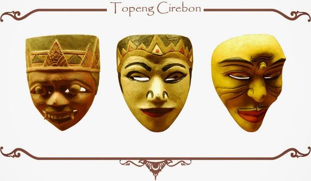 Gambar Topeng Tradisional Cirebon Seni Budaya Indonesia