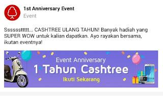 IMG 20161118 183942 Dapatkan hadiah menarik dari event Anniversary satu tahun berdirinya Cashtree