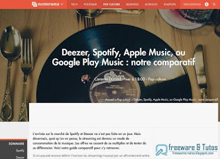 Comparatif des sites de streaming musical