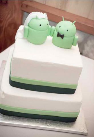 Gâteau Android pour mariés