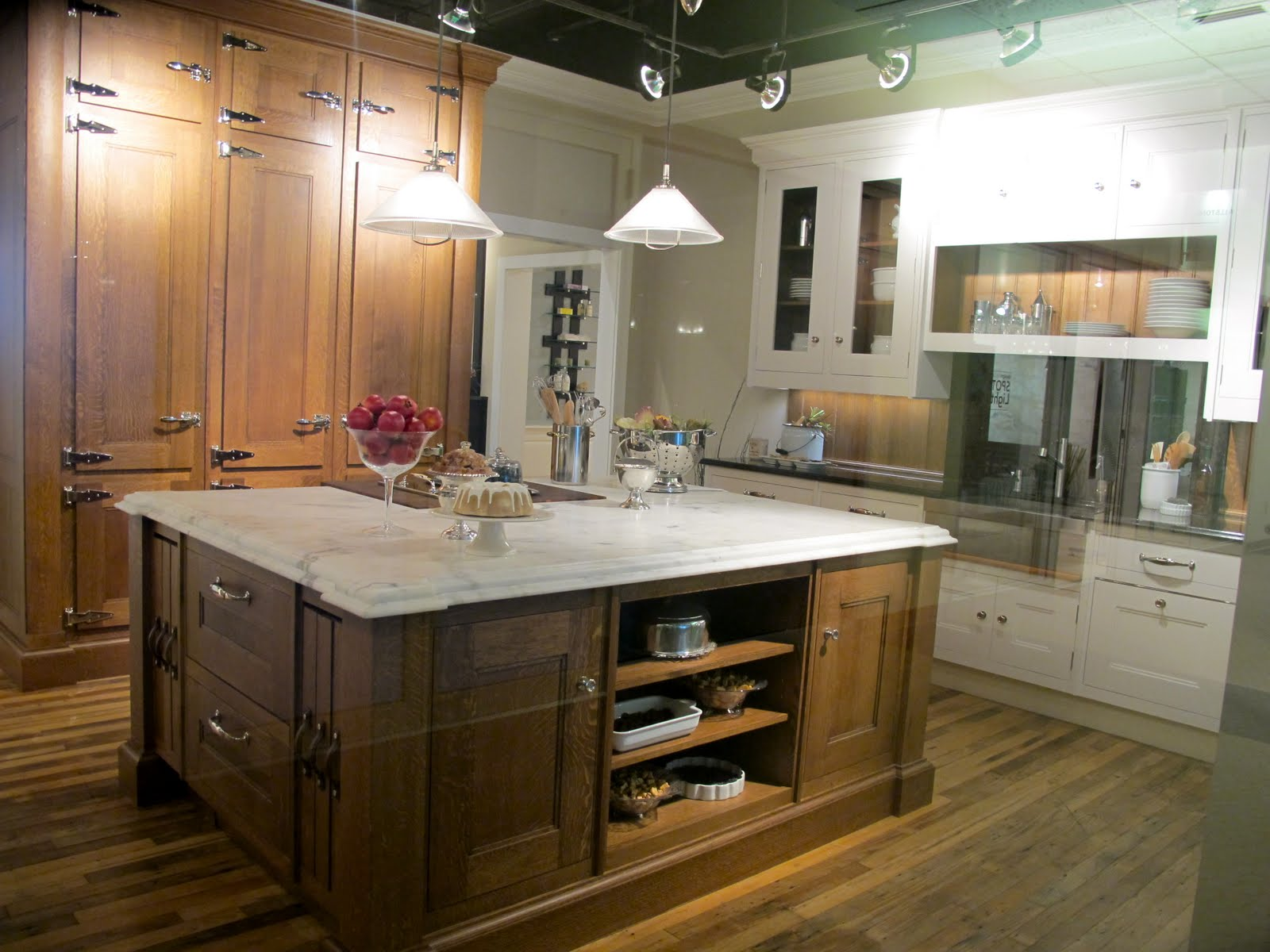 polished nickel kitchen faucet hanging lights over island jenny steffens hobick: kitchens   the most amazing ...