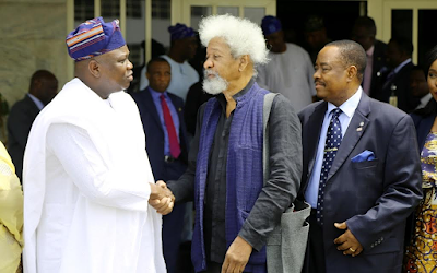 Gov. Ambode chooses Wole Soyinka, Gbadamosi as Co-Chairmen of Lagos at 50 Planning Committee