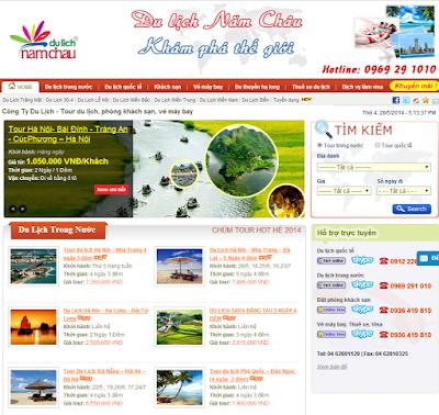 Thiết kế website du lịch chất lượng,hiệu quả chỉ có tại ONME