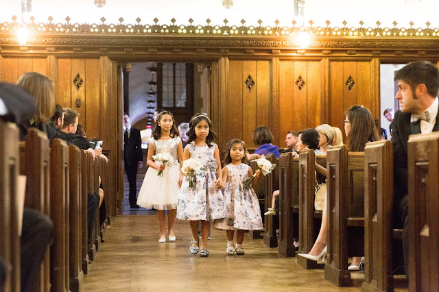 Flower girls at Grosse Point Academy Church