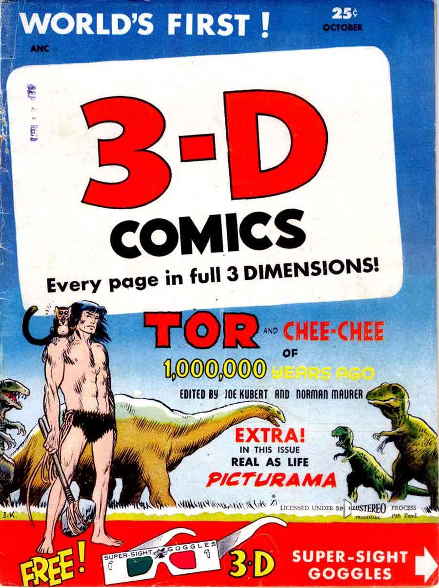 Tor v1 #2A st john golden age comic book cover art by Joe Kubert