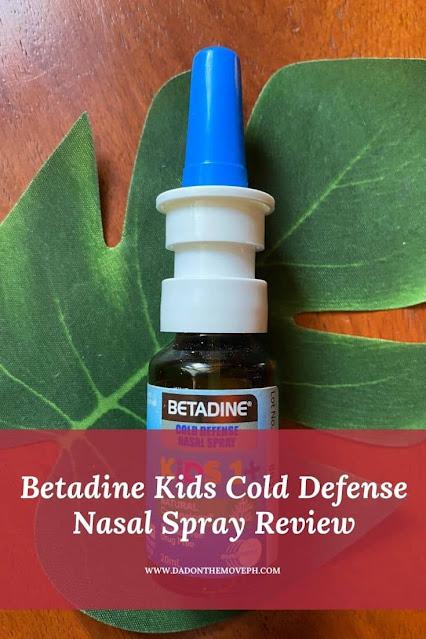 Betadine Kids Cold Defense Nasal Spray review