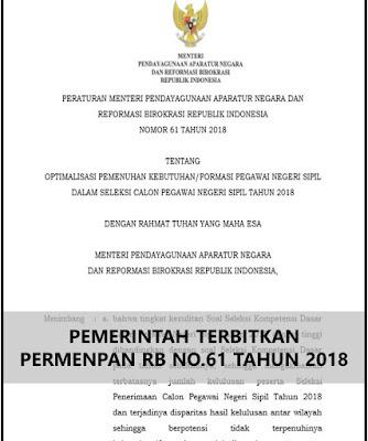 permenpan rb no.61 tahun 2018