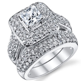 white gold cubic zirconia wedding ring