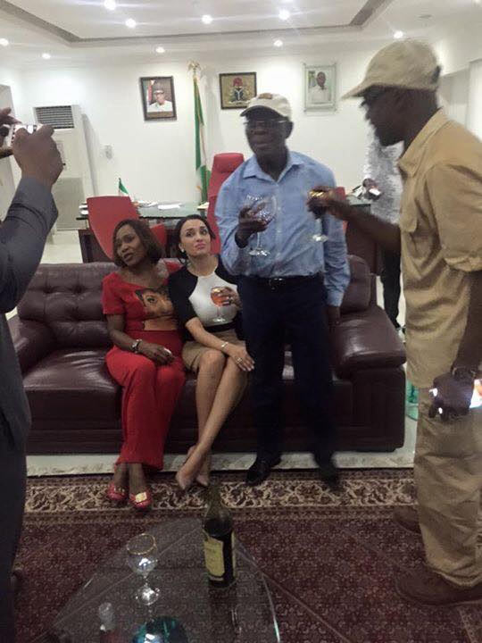 Oshiomhole and wife celebrate Obaseki's victory