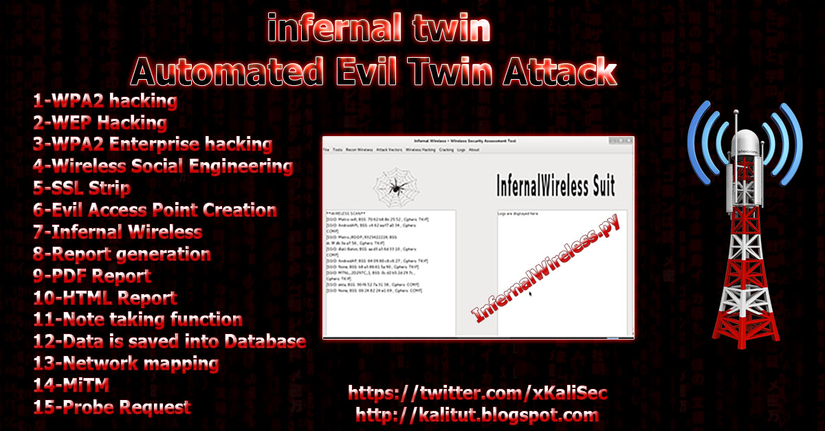 infernal twin Automated Evil Twin Attack - KaliTut