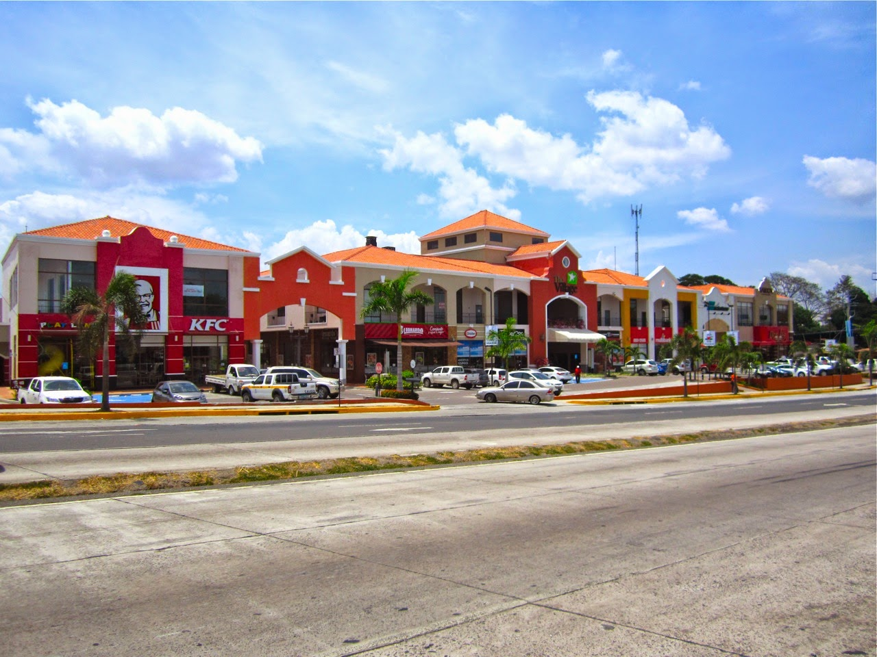 This Colorful Strip Mall Is On The Right Hand Side If Driving In From Panama City