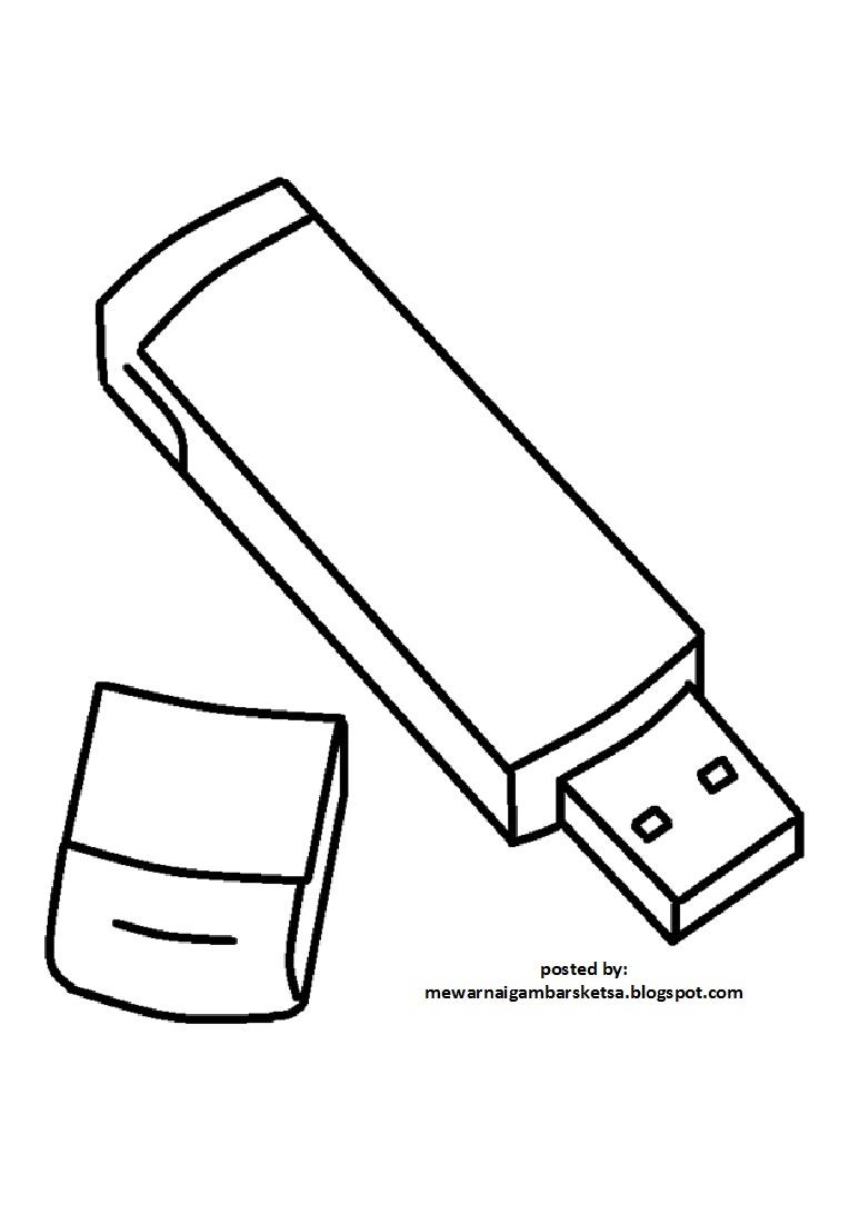 Mewarnai Gambar Sketsa Flashdisc 1