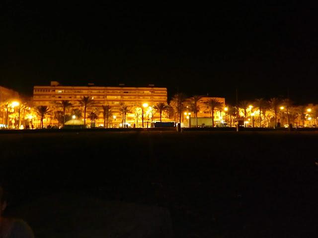 Almeria nocą