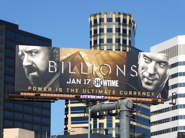 Billions series launch billboard