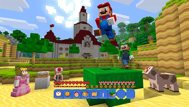 Super Mario Meets Minecraft - Nintendo Wii U