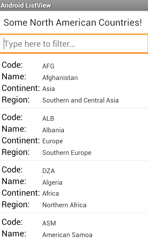 Programmers Sample Guide: Android ListView with Custom