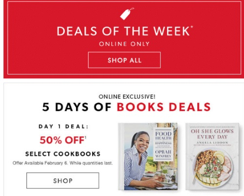Chapters Indigo 5 Days of Books Deals