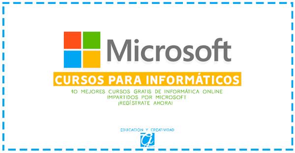 10 cursos de informática gratis impartidos por Microsoft para este 2018
