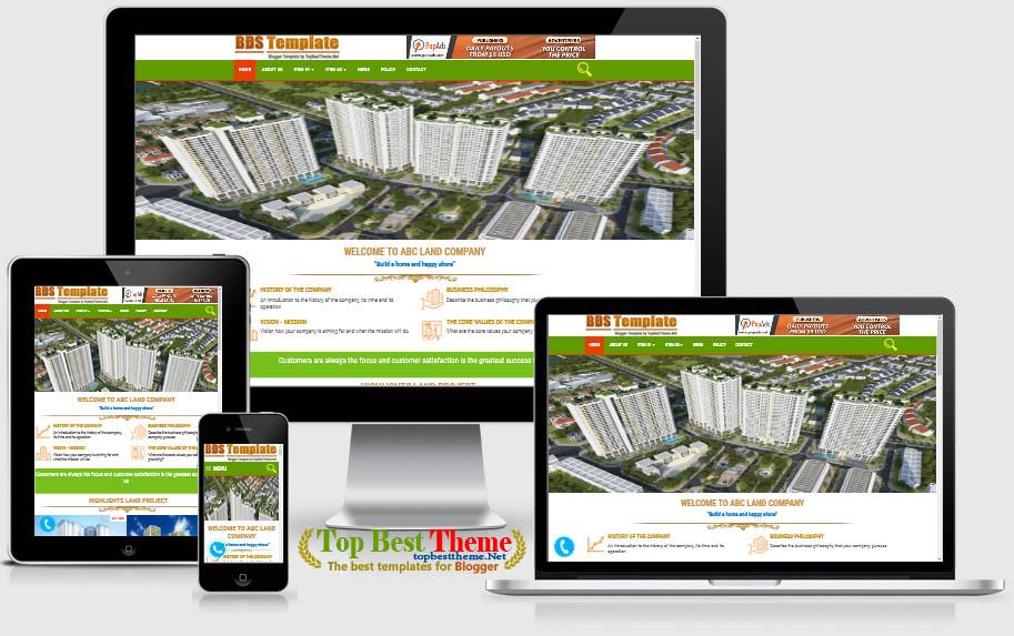 BDS Land Premium Blogger Template
