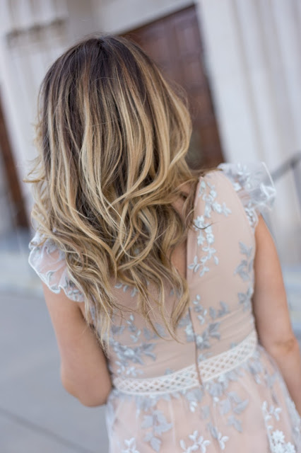 Brown to Blonde Hair Painted Balyage