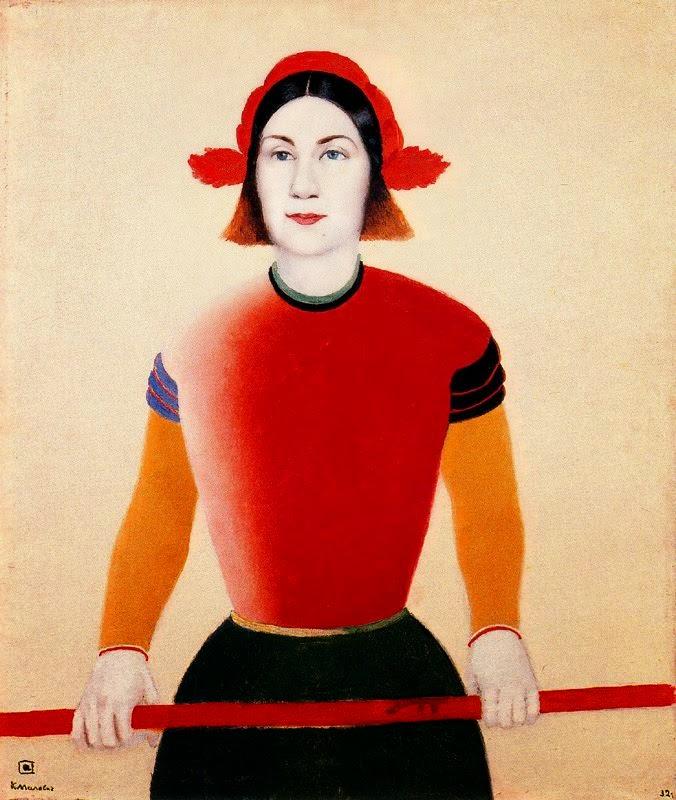 Menina de Vermelho - Kasimir Malevich e suas pinturas com elementos geométricos abstratos