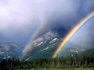 sonhar com arco íris na montanha