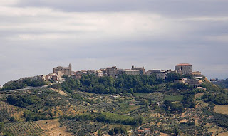 The hilltop town of Bucchianico in Abruzzo