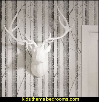 Birch Tree Wallpaper  Modern rustic decorating - Modern rustic decor - modern contemporary rustic style nature-inspired furniture - modern rustic baby bedrooms - wooden wall art - rustic modern baby nursery