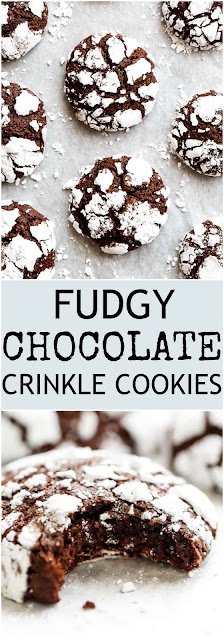 In the land of wanting to eat whatever we want over Christmas but we can Best Fudgy Chocolate Crinkle Cookies - Easy To Make