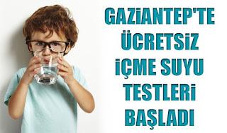 gaziantepte İhlas pazarlama aracılığıyla ücretsiz içme suyu testleri başladı