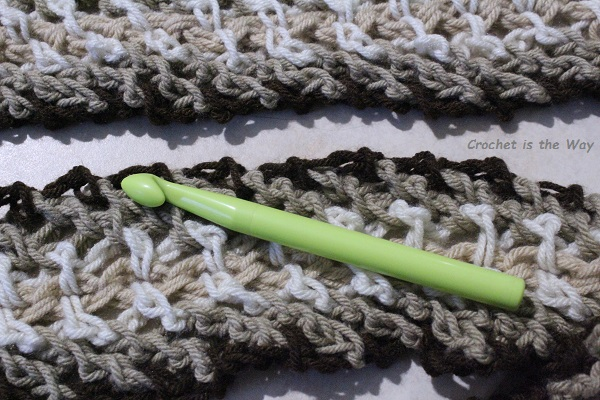 crochet, scarf, WIP, work in progress, chain stitch, woven