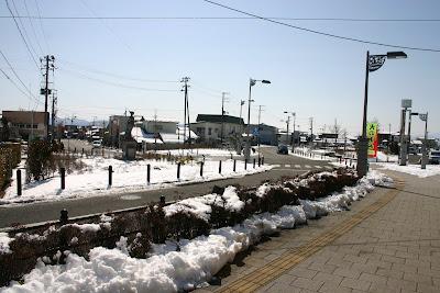 桑折駅前の通り