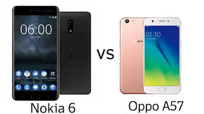 Nokia 6 vs Oppo A57