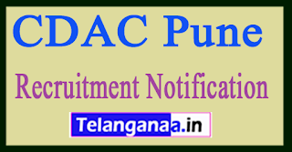 CDAC Pune Recruitment Notification 2017