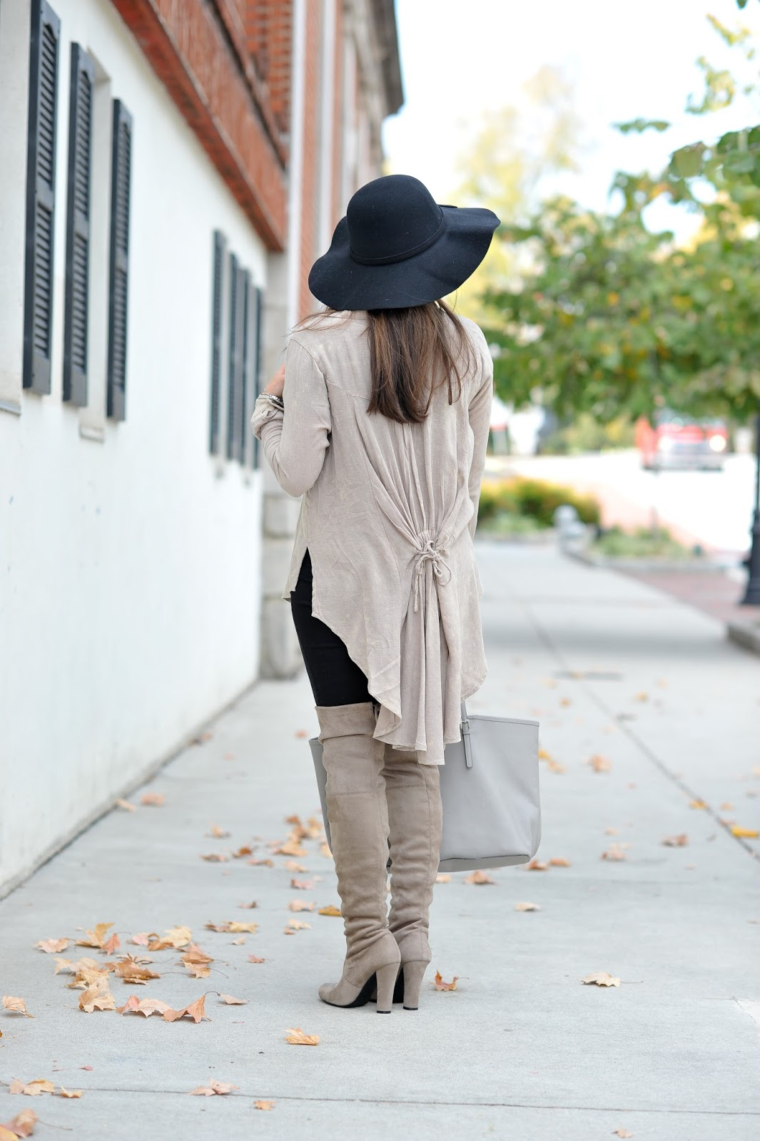 Fall Neutrals from Zaful, fall fashion, fall outfit ideas, over the knee boots, atlanta style blogger, outfit of the day, thanksgiving outfit ideas