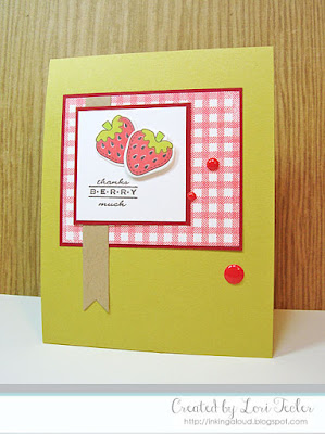 Thanks Berry Much card-designed by Lori Tecler/Inking Aloud-stamps and dies from Clear and Simple Stamps