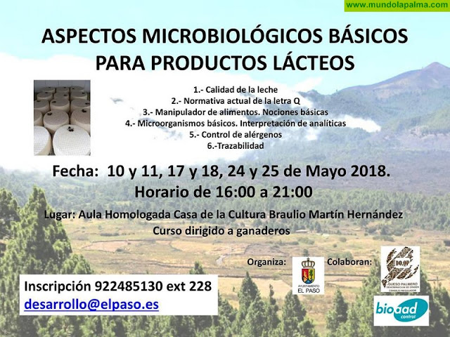"""Curso """"Aspectos Microbiológicos Básicos para Productos Lácteos"""" en El Paso"""