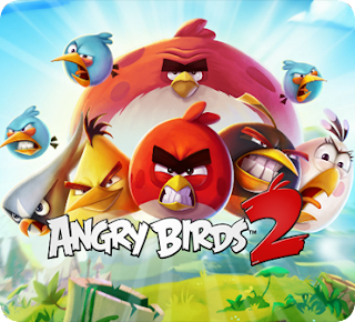 صورة توضح شعار لعبة الطيور الغاضبة انجري بيرد