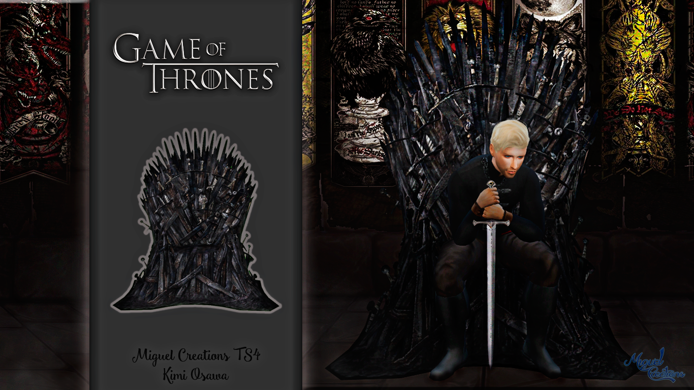 My sims 4 blog game of thrones iron throne by miguel - Game of thrones objet ...