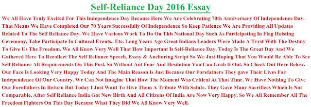 Essays on self reliance