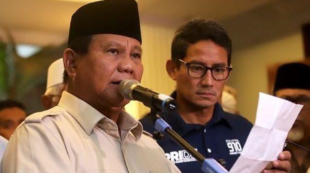 Sebut Ada Kecurangan Luar Biasa, Prabowo : Kita Tetap Akan Menang, Karena Rakyat Bersama Kita