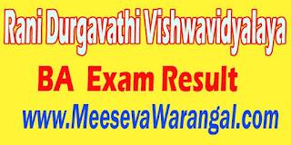Rani Durgavathi Vishwavidyalaya BA (HONS) Mass Communication IV / I Sem 2015-16 Exam Result