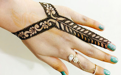 Simple Mehndi designs for fingers only