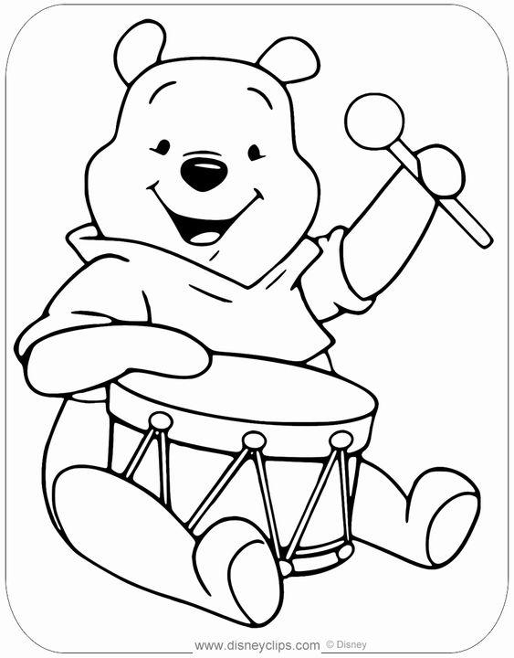 Tranh cho bé tô màu gấu Pooh 38
