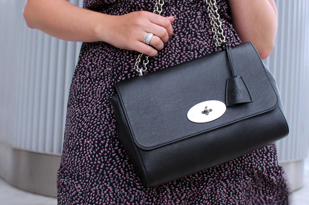 Black Mulberry medium Lily bag - London style blogger