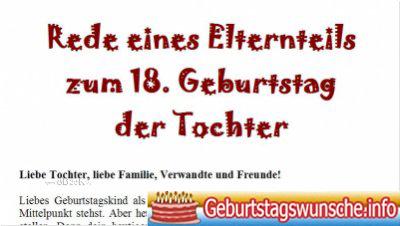 Geburtstagswunsche Fur Die Tochter Zum 18 Beste Geschenke
