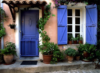 Деревянные окна в стиле Прованс