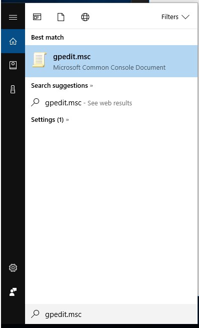gpedit.msc find in windows 10