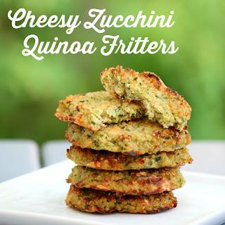 Cheesy Zucchini Quinoa Fritters